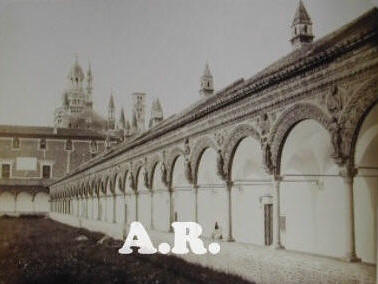 Certosa di Pavia photo image vintage antique