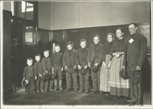 A family of seven sons and one... Digital ID: 79890. New York Public Library