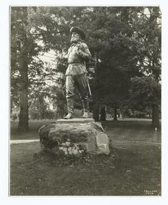 Pioneer statue, campus of the ... Digital ID: 93786. New York Public Library